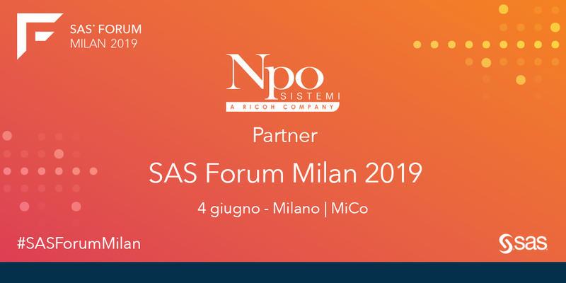 Ti aspettiamo al SAS Forum