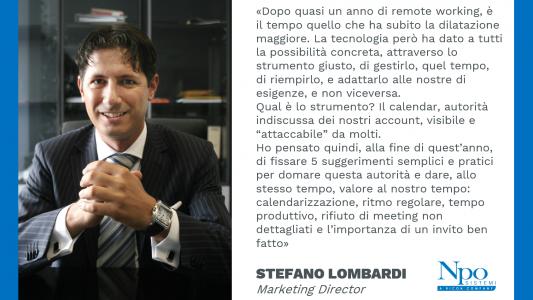 Ai nuovi inizi, al pepe e a quell'uno dopo 202. Stefano Lombardi, il Volto di Npo.